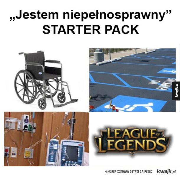 Jestem niepełnosprawny