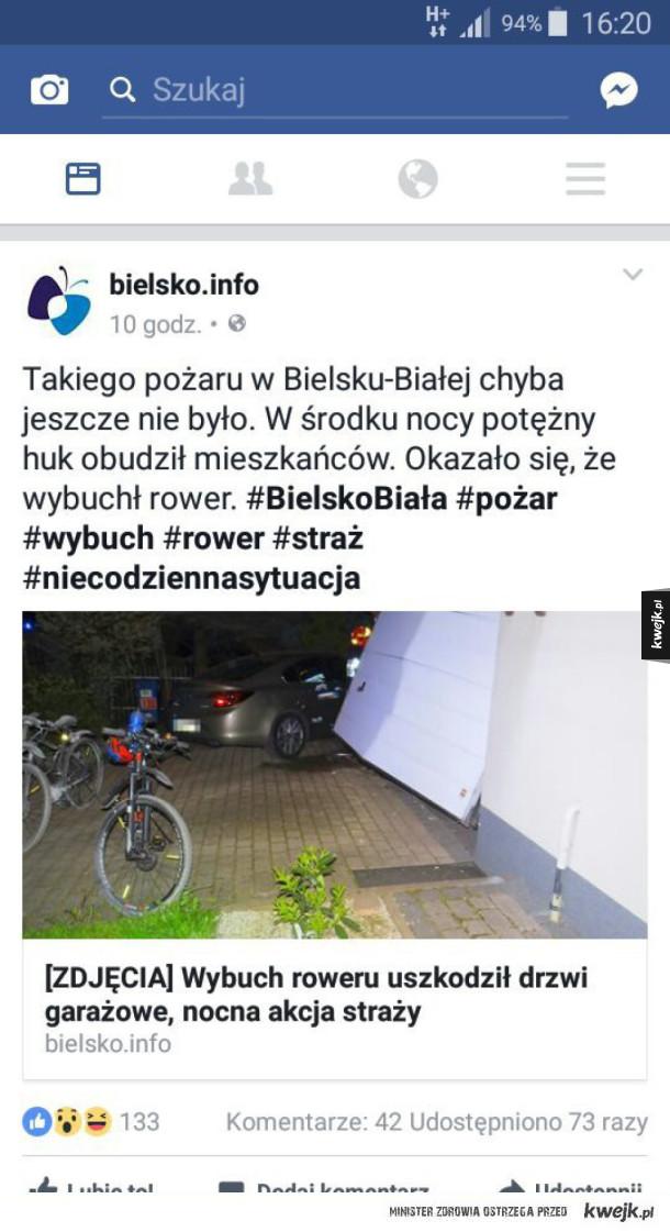 Wybuchł rower