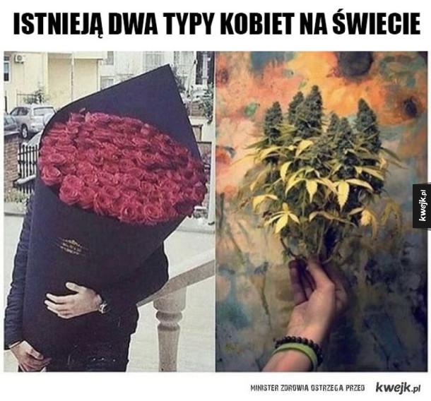 Różne bukiety kwiatów