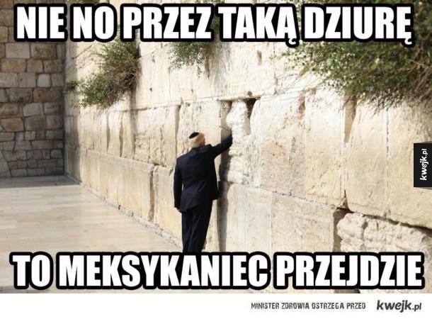 Trump przy murze