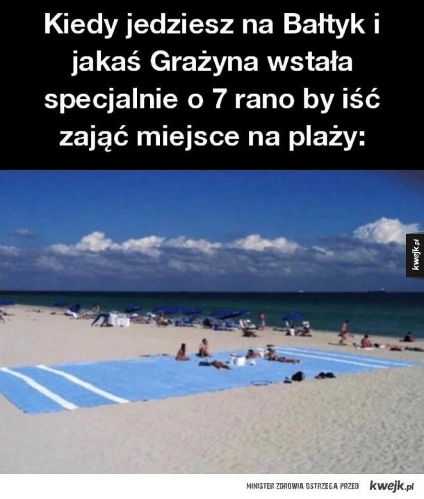 Grażyna na plaży
