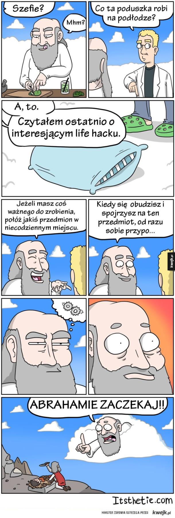 Komiksy o przygodach Boga
