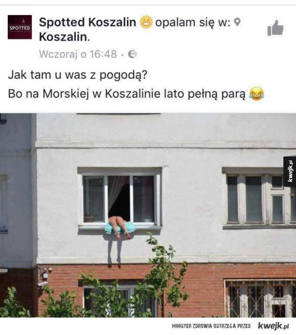 Piękna pogoda w Koszalinie