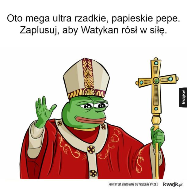 Rzadkie papieskie Pepe
