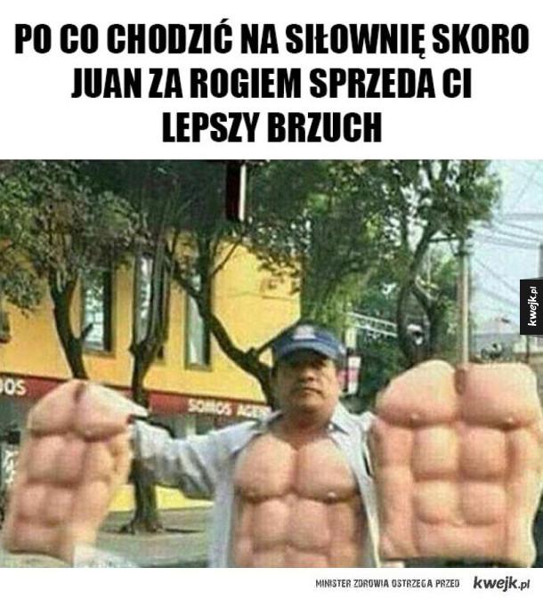 Juan sprzedaje brzuchy