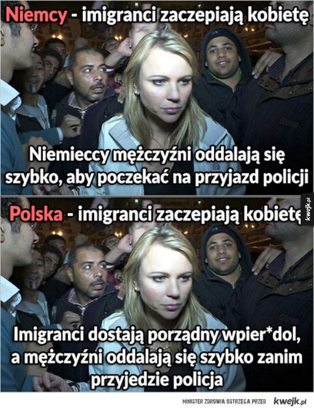 Imigranci w Niemczech vs imigranci w Polsce