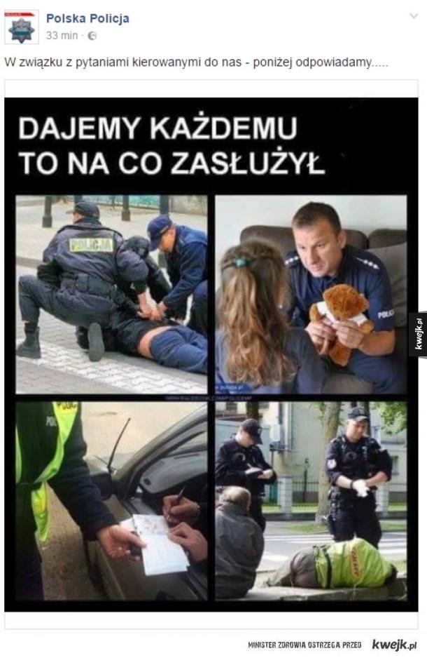 Polska Policja śmieszkuje