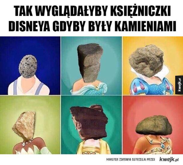 Księżniczki Disneya jako kamienie