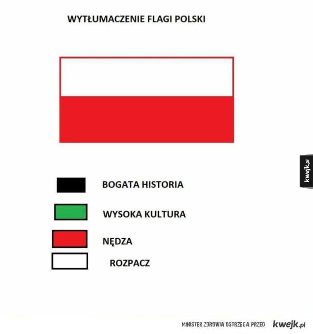 Wytłumaczenie flagi Polski