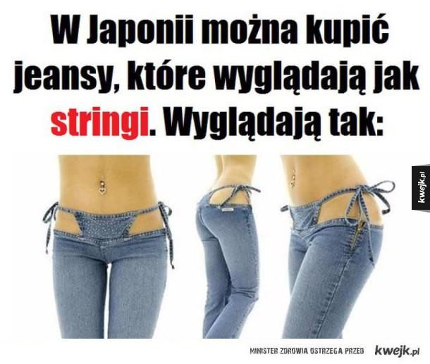 Jeansy jak stringi