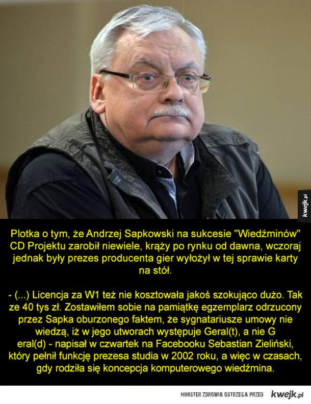 Wiemy ile naprawdę zarobił Sapkowski za prawa do Wiedźmina!