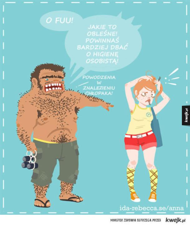 Komiksy o goleniu, z którymi dziewczyny mogą się utożsamić