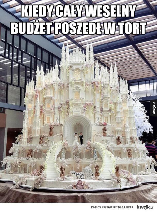 Kiedy cały budżet poszedł na tort