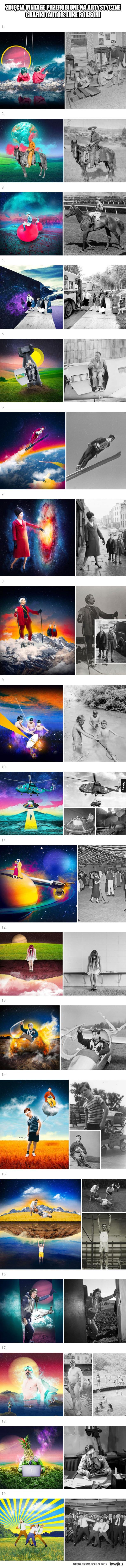 Zdjęcia przerobione na artystyczne grafiki