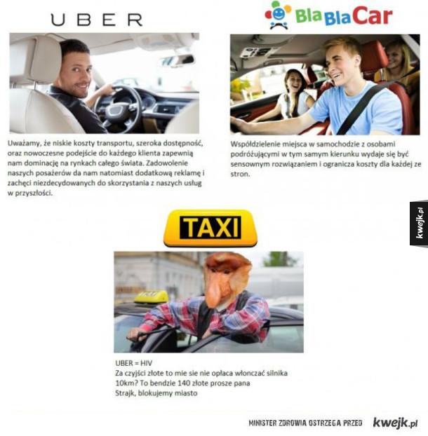 ech ci taksówkarze