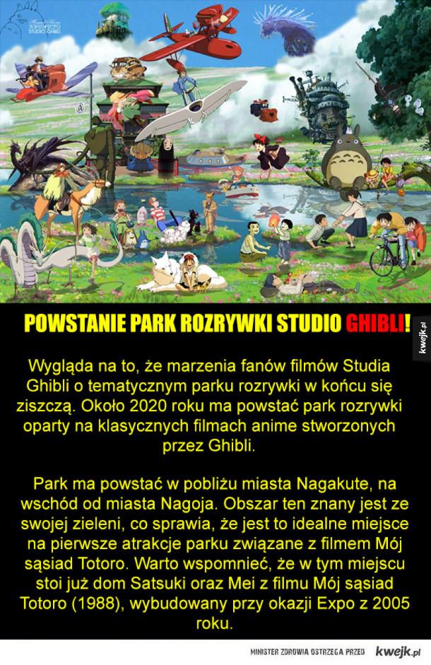 Powstanie Park rozrywki studio ghibli!