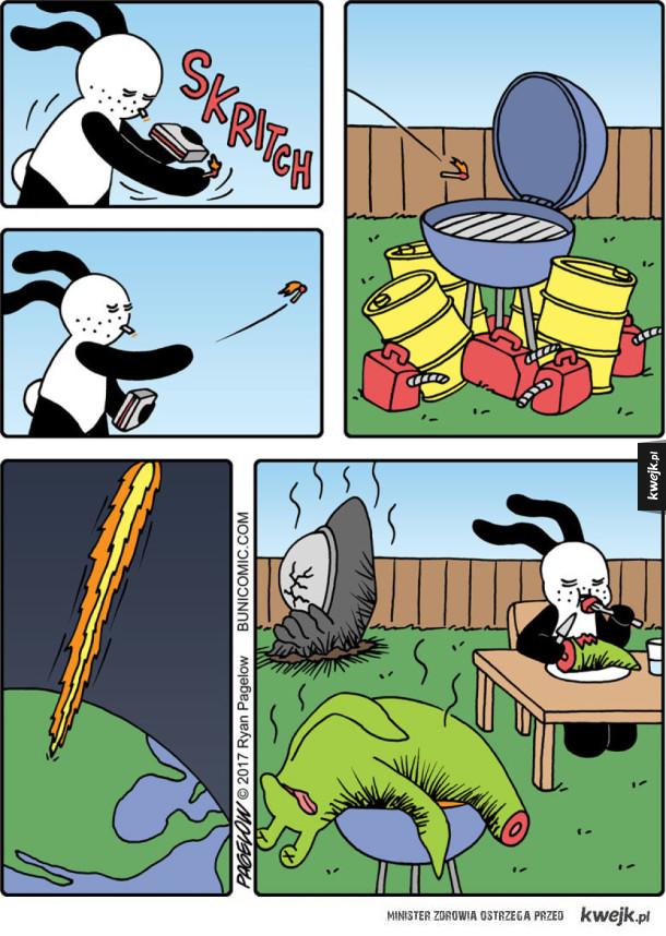 Udany grill króliczka