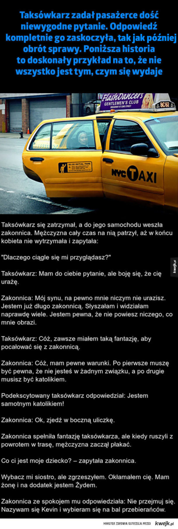 Niewygodne pytanie od taksówkarza