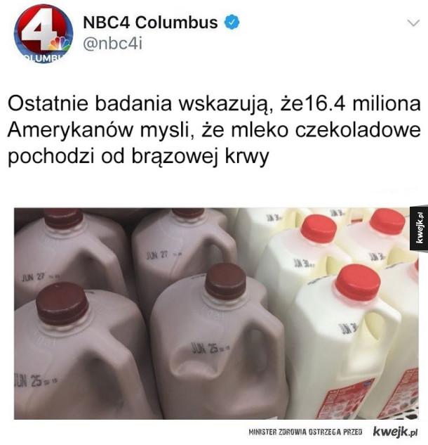 Mleko to oni mają zamiast mózgu