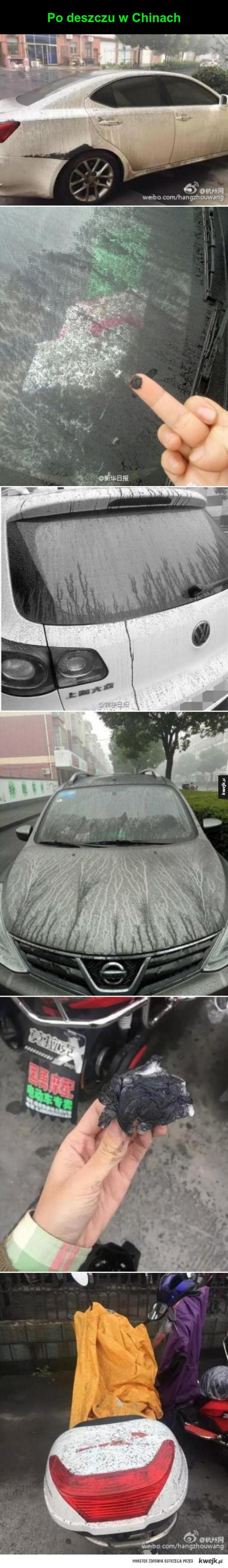 deszcz w Chinach