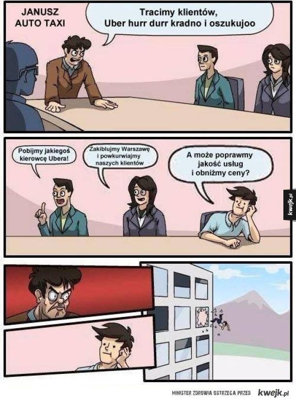 Memy z okazji protestu taksówkarzy