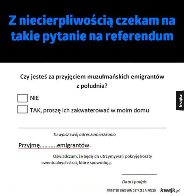 Wyczekiwane pytanie w referendum