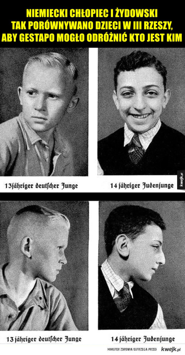Niemiecki vs żydowski chłopiec