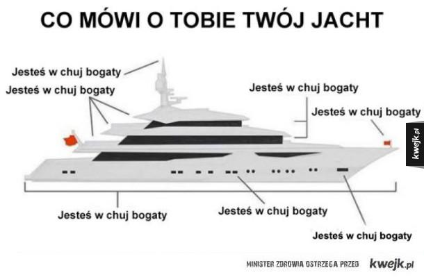 co mówi jacht