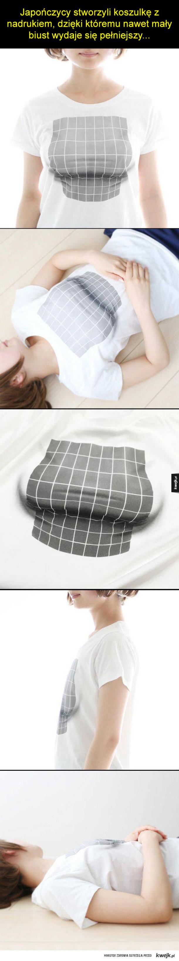 T-shirt powiększający piersi