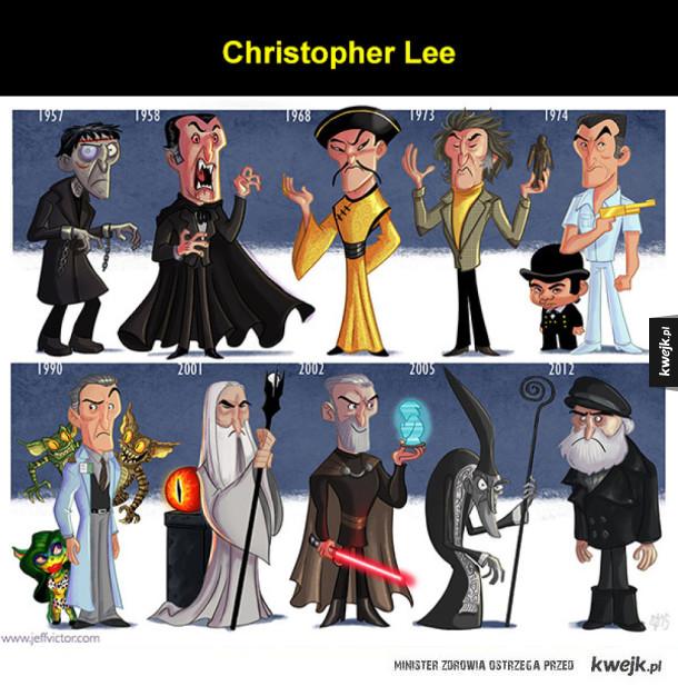 Ewolucja znanych aktorów i postaci na (uroczych) ilustracjach Jeffa Victora