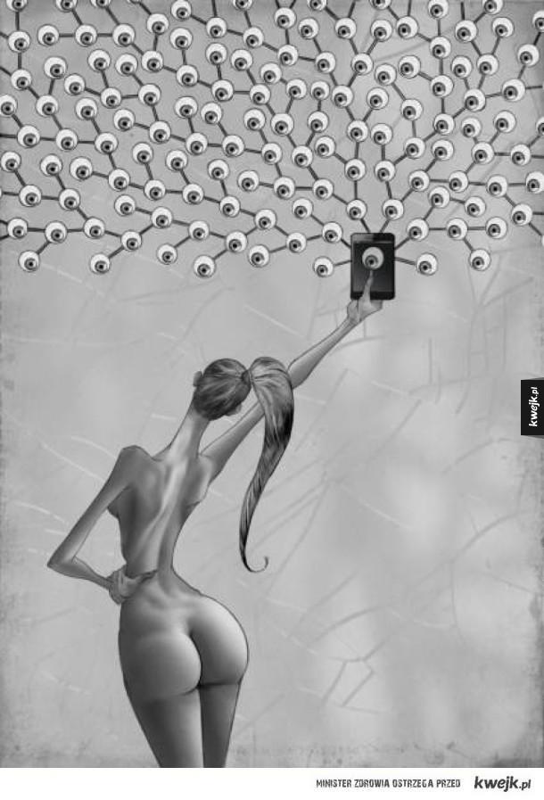 Bolesna diagnoza współczesnego świata na ilustracjach Ala Margena