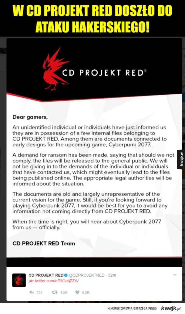 CD Projekt ofiarą ataku hakerów