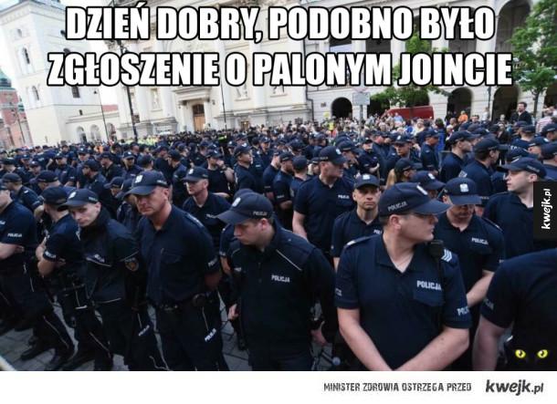 Policjanci gotowi do interwencji