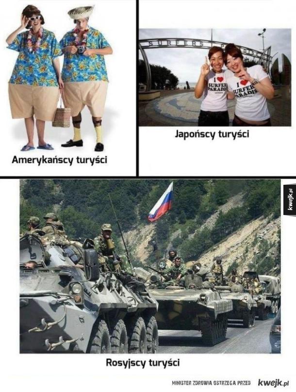 Turyści w różnych krajach