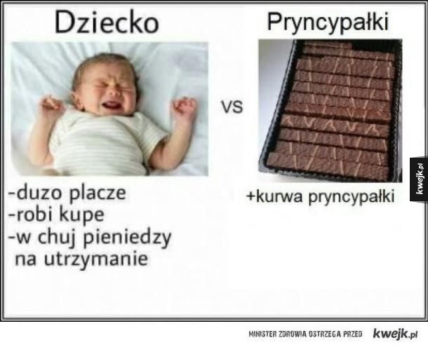 Dzieci vs. Pryncypałki