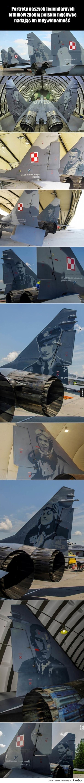 Portrety naszych  legendarnych lotników