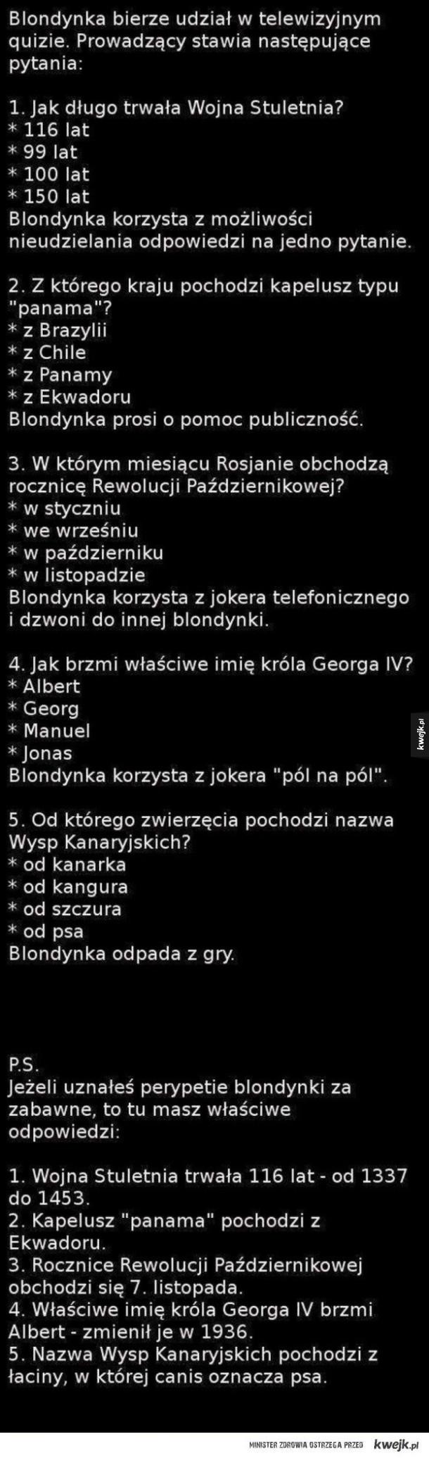 Quiz Blondynki