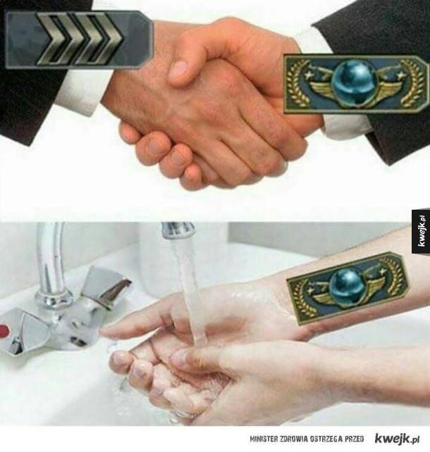 Trzeba umyć dłonie