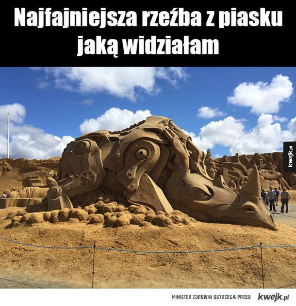 rzeżba z piasku