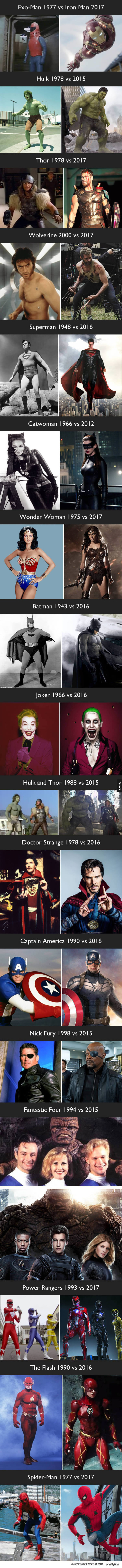 Jak zmienili się superbohaterowie