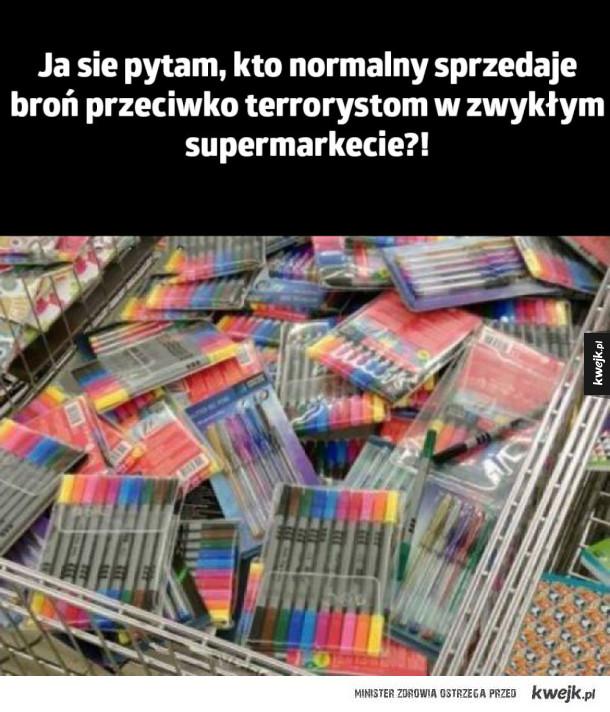 Broń w supermarkecie
