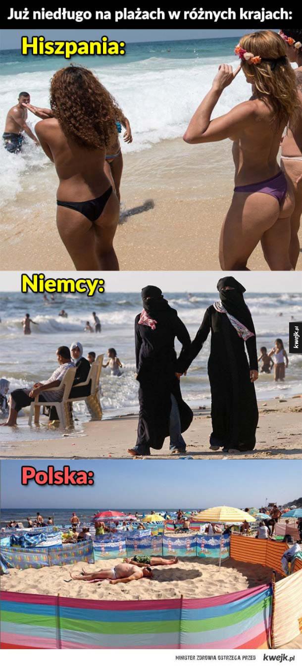 Tymczasem na plażach w różnych krajach