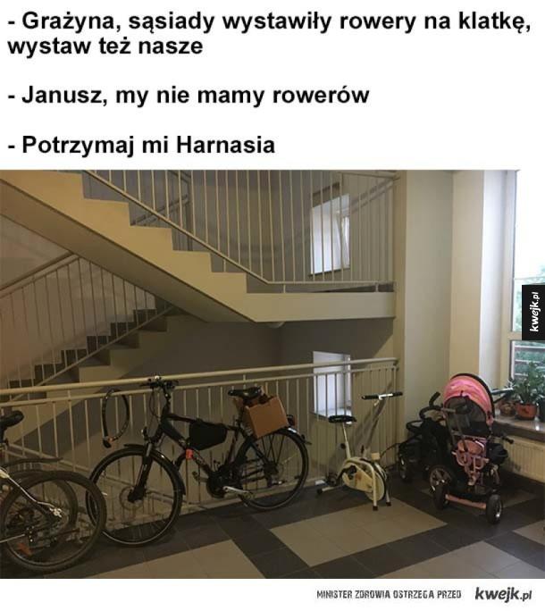 Rowery na klatke