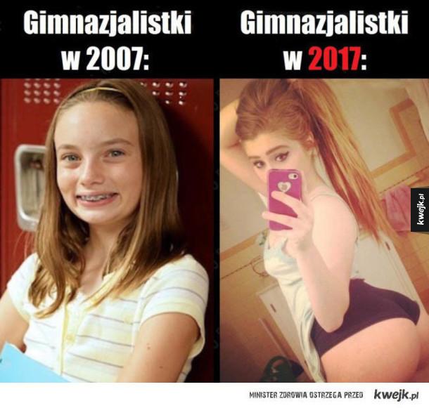 Ewolucja gimnazjalistek