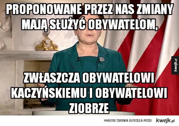 Orędzie Beaty Szydło