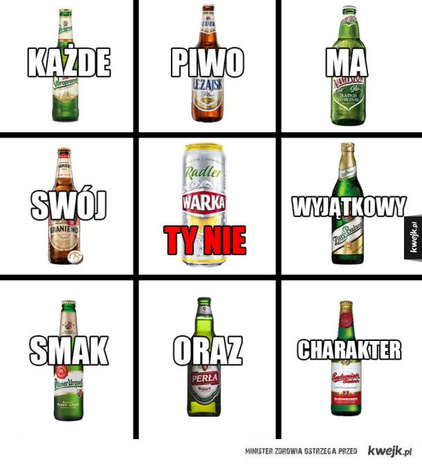 Każde piwo ma swój wyjątkowy smak oraz charakter