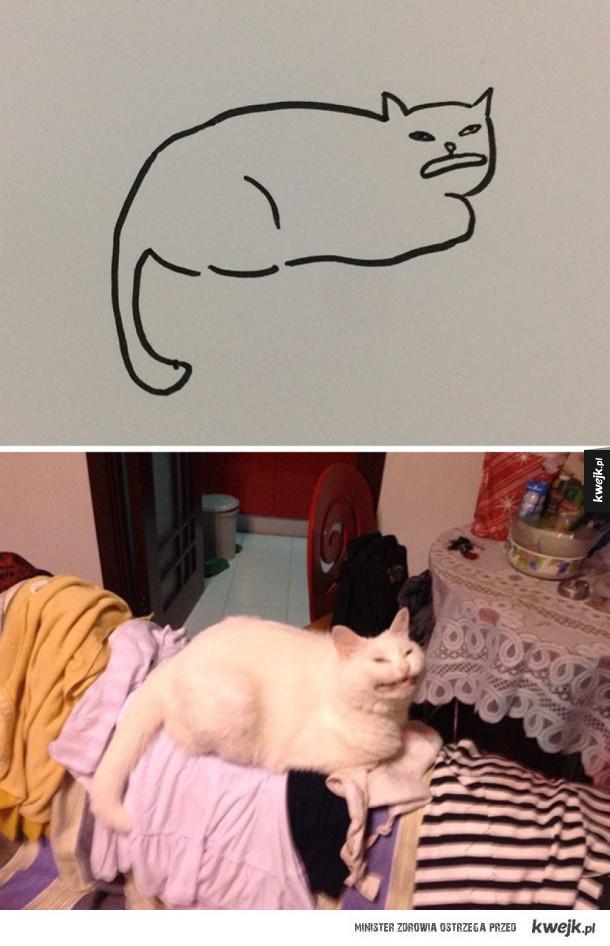 100% realistyczne rysunki kotów