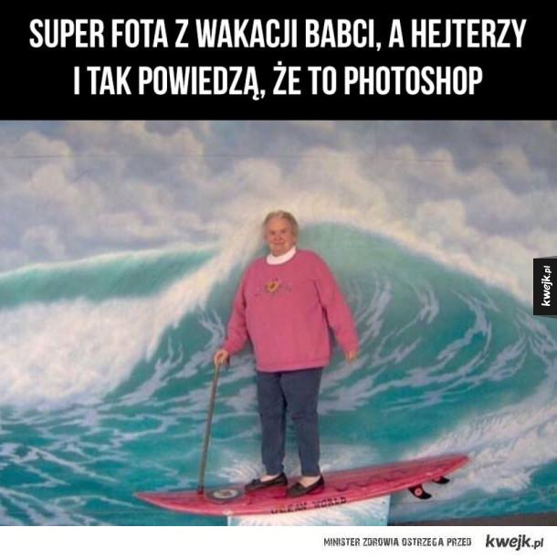 super wakacje babcia pozdrawia