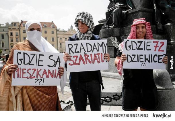 Muzułmanie protestują