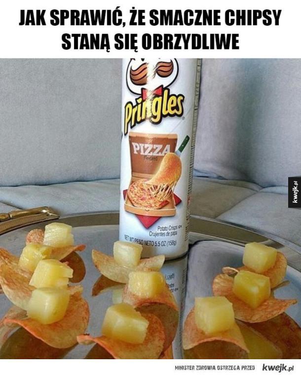 Jak zniszczyć chipsy